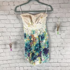 Alyn Paige Strapless Watercolor Dress Size 5/6